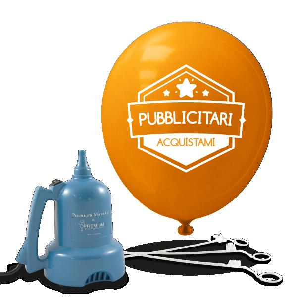 palloncini pubblicitari 1lato-bacchette gonfiatore elettrico