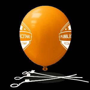 Palloncini con bastoncini (stampa due lati)