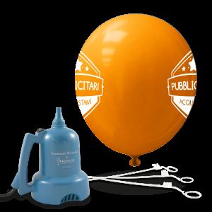 Palloncini con bastoncini e gonfiatore (stampa due lati)