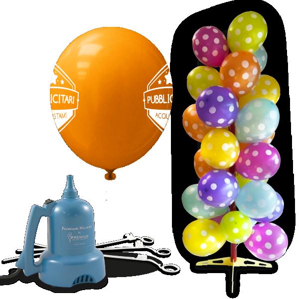 palloncini pubblicitari 2lati bacchette gonfiatore elettrico espositore