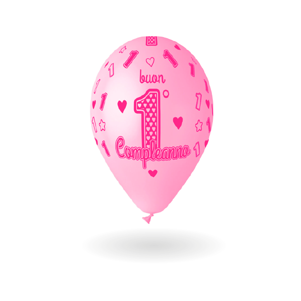 palloncini allaround buon compleanno 1 femmina