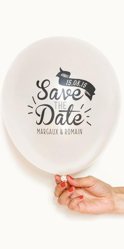 Partecipazioni di nozze con palloncino - stile elegante - 2