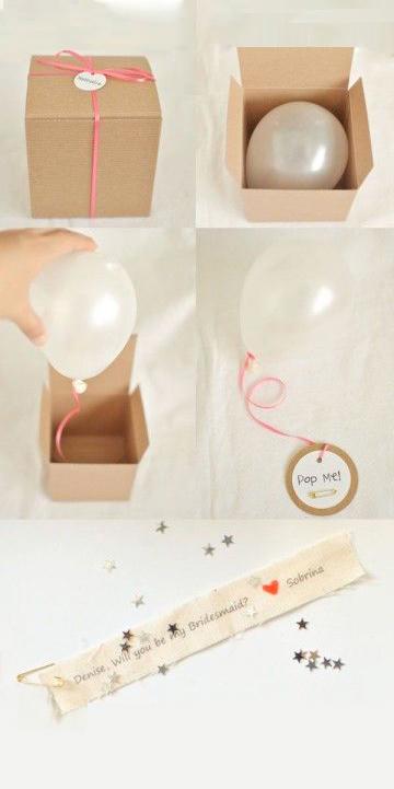 Partecipazioni di nozze/matrimonio con palloncino in scatola