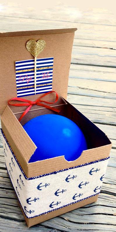 Partecipazioni di nozze/matrimonio con palloncino in scatola - 2