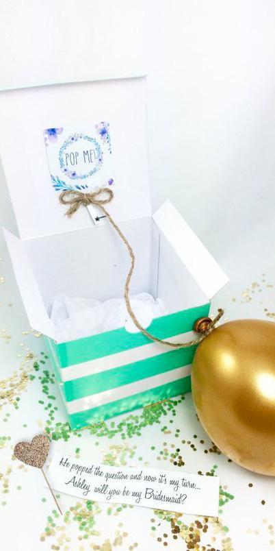 Partecipazioni di nozze/matrimonio con palloncino in scatola - 3