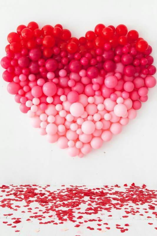 Cuore di palloncini San Valentino - 2b