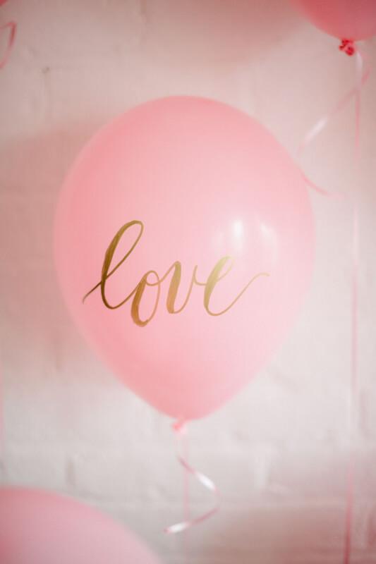 Palloncini con stampa di San Valentino - 2b
