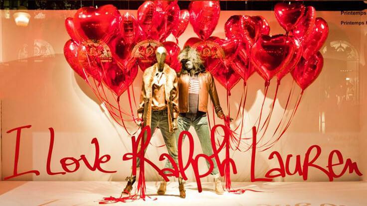 Vetrina negozio abbigliamento san Valentino - Ralph Lauren